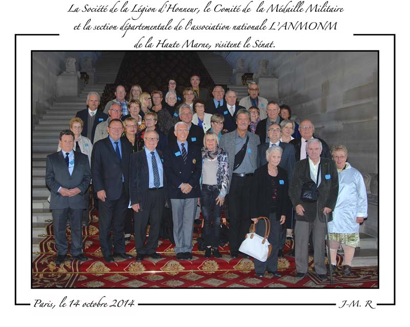 Visite du Sénat.Photo de groupe
