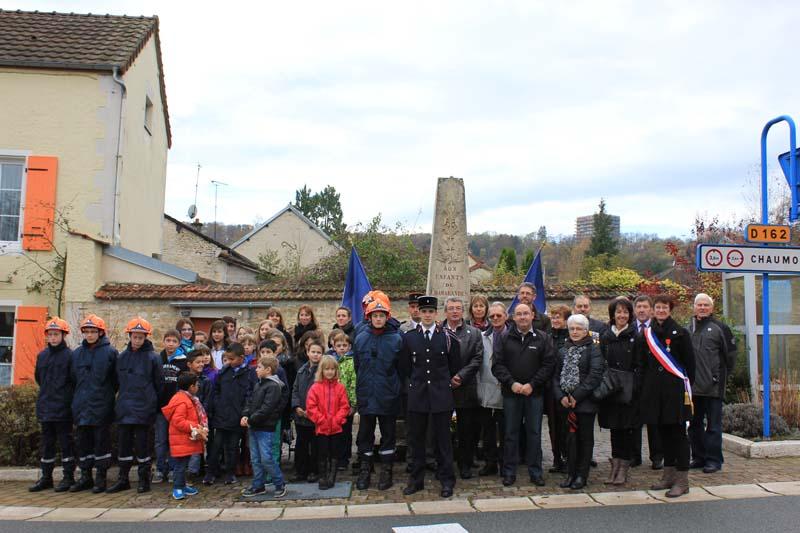 Céremonie du 11 Novembre 2014 à Chamanrandes
