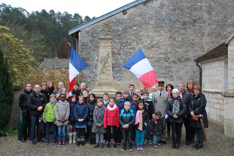 Céremonie du 11 novembre 2014 à Choignes